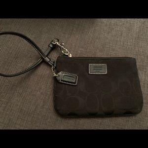 Small Black Coach Wristlet